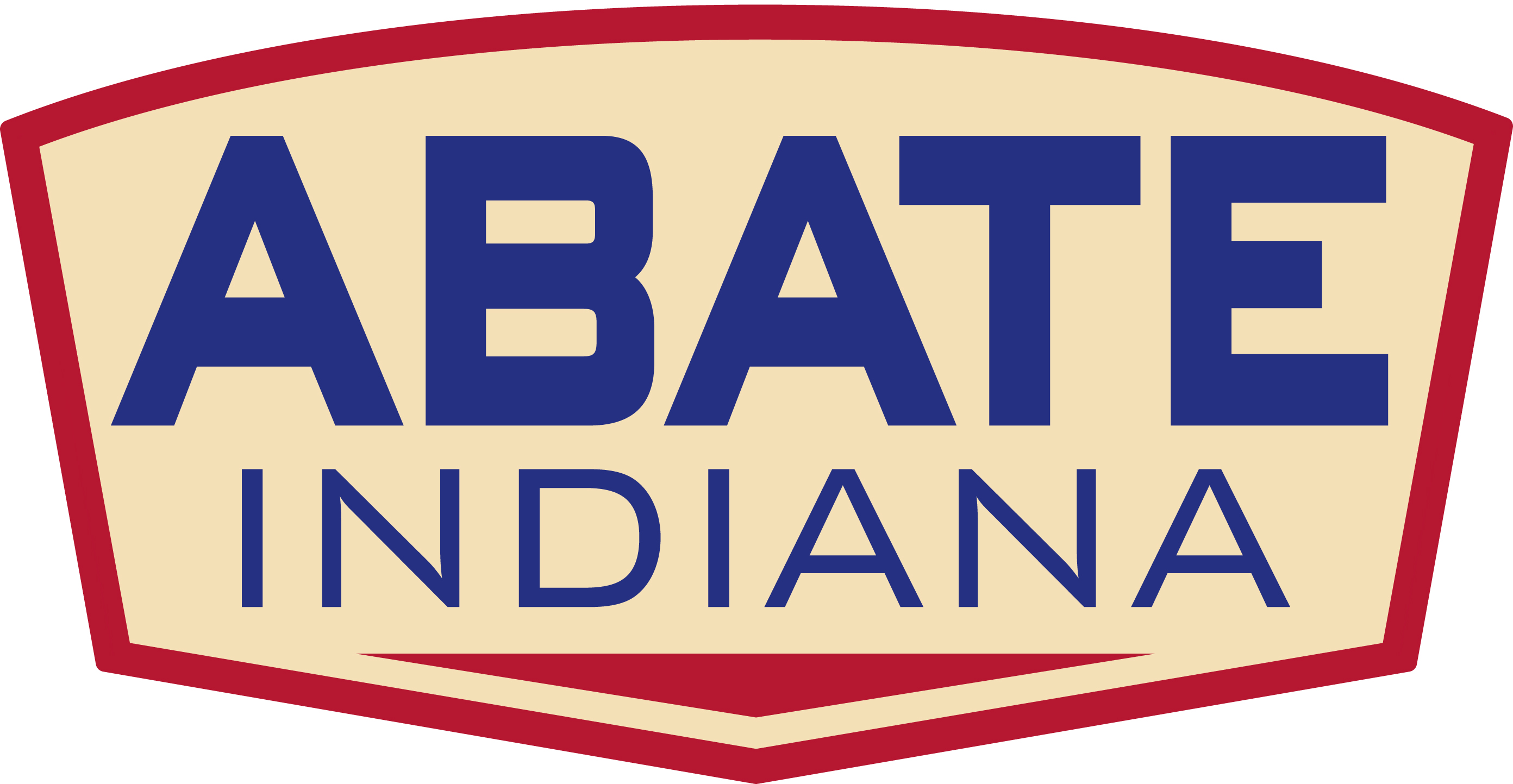 9 inch ABATE of Indiana Logo Sticker